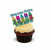 NOVELTY 'WELCOME HOME, WE REALLY MISSED YOU' - Standups 12 Edible Standup Premium Wafer Cake Toppers
