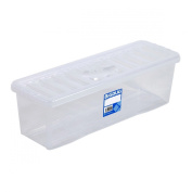 Clear CD Storage Box To Hold 52 CD's Home Archive Storage Box Container With Lid
