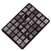Sannysis Nail Stamping Printing Plate Manicure Nail Art Decor Image Stamps Plate