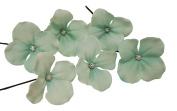 Olini Handmade Set of 6 Flower Hair Pins, Bridesmaids Hair Pins, Handcrafted Pins