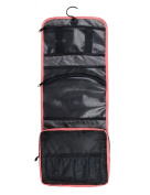 Bags-mart Hanging Toiletry Kit Travel Bag Cosmetic Carry Case Makeup Organiser with Breathable Mesh Pockets