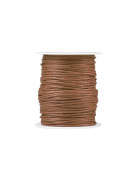 FreshHear Pack of 1 for 80m Waxed Cotton Cord Colour Brown Size 1.5x1.5mm