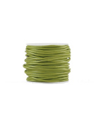 FreshHear 10m Leather Cord Colour Party Green Size 2x2mm