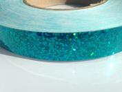 9.1m roll of 1.9cm Disco Sequin TEAL Hula Hoop Tape