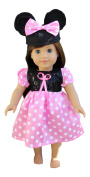 In-Style American Girl Doll Clothes accessories for 46cm dolls Minnie Mouse dress with Mickey mouse ears hat
