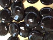 Sun and Moon Glass Gems/ BLACK Glass Gems, Large