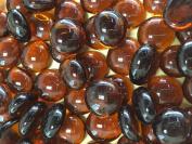Sun and Moon Glass Gems/ DARK AMBER Glass, Small