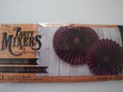 Party Mixers 2 Paper Rosettes - Purple - 36cm x 43cm diameter