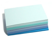 Blue Paper Business Cards (100) Paper Blue01- Blank