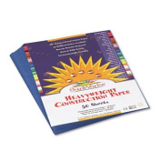 Construction Paper, 26kg., 9 x 12, Blue, 50 Sheets/Pack 7403