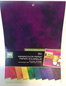 Colorbok 22cm Paper Pad, Watercolour Painted Rainbow