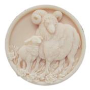 GRAINRAIN Silicone Mould Sheep Soap Moulds Soap Making Mould Resin Mould Handmade Soap Mould Diy Craft Art Moulds Flexible 1 pc