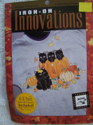 Black Cats and Pumpkins Iron-On Applique Kit