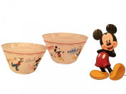 Disney RSquared Mickey & Friends Glass Bowl (Set of 2), Multicolor