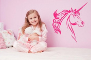Magic Unicorn - Enfants Chambre Chambre Sticker mural, fuchsia, Large