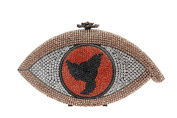 Yilongsheng Dazzling Eye Shape Clutch Bags with Crystal for Ladies