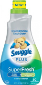 Snuggle Plus Super Fresh Fabric Softener Liquid with Odour Eliminating Technology, 31.7 Fluid Ounce