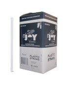 Crystalware Giant (Jumbo) Clear Straws Individually Wrapped 26cm 300/box