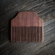 Handcrafted in Canada, Walnut Wood Fine-Toothed, No-Snag Pocket Beard Comb, Smooth, Non-Toxic Finish, Natural And Organic Personal Care,