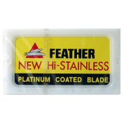 Feather Razor Blades NEW Hi-stainless Double Edge (Japan) 20 count