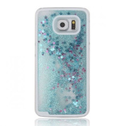 Samsung Galaxy S7 Case, UZZO [Liquid Glitter] Transparent 3D Glitter Quicksand and Bling Sparkle Star Dynamic Liquid Flowing Clear Hard Back Case for Samsung Galaxy S7