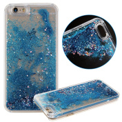 iPhone 5S Case, Liquid Case for Galaxy Note 5, UZZO Stylish Shiny Glitter Sparkle Stars Dynamic Quicksand Flowing Case Hard Clear Shell for iPhone 5S