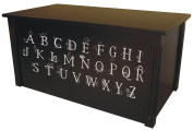 Wood Toy Box, Large ABC Toy Chest in Espresso, Thematic Font, Custom Options