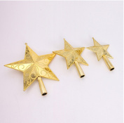 red cherry golden sculpture star christmas tree top decorations-20cm