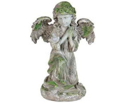 Exhart Solar Angel with Bird Statue