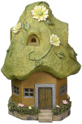 Exhart Solar Cottage with Moss Roof Statue