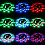 Sunsbell ® Led Strip Lights Battery Powered Waterproof LED Light Strips SMD 3528 LED Ribbon Light With Control Box