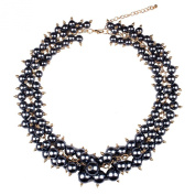 SunIfSnow Luxury Fashion Colour Pearl Beads Clavicle Short Chain Necklace