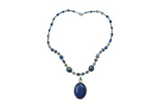 Lapiz Lazuli Handcrafted Beaded Necklace- Twisted Beads Stones Handmade Necklaces