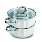 Oster Hali Steamer Set with Lid for Stovetop Use, Stainless Steel