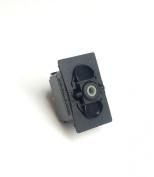 Rocker Switch Body Not Lighted, (ON)/OFF/(ON), SPDT, 12 V