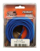 Coleman Cable 55669433 14 Gauge Automotive Copper Wire, Blue, 5.2m