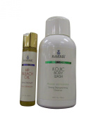 Kojic Acid Bleaching Body Wash Plus High Potency Bleach Oil 60ml. This Product Combines Super Hydration Benefit to Skin Renewal. Ideal for Dark Spotty Skin That Fails to Clear After Serial Use of Other Washes. Fights Body Acne and Blemishes, Enriches t ..