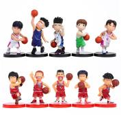 Cute Anime Slam Dunk Action Figures Dolls Boys Toys 10pcs/set