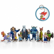 12 Pieces Zootopia World PVC Characters Exclusive Playset Figures