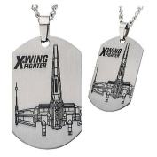 Star Wars VII X-Wing Starfighter Dog Tag Pendant Necklace