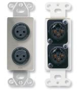 RDL DS-XLR2F Dual XLR 3-pin Female Jacks on Decora Wall Plate