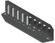 RDL SR-10 STICK-ON Series 48cm Mounting Rack - 10 modules