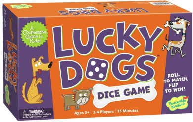 Peaceable Kingdom Lucky Dogs Cooperative Dice Game