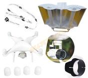 gouduoduo2018 DJI Phantom 4 3 Camera Lens Sun Hood Cap + Motor guards + Antenna Range Booster + Neck strap