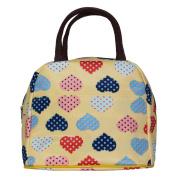ZXKE Cartoon Lovely Yellow Heart Design Women Bags Lunch Bags