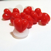 10 Premium Craft Noses - 12mm Red Heart Noses