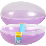 2 X Jumbo Easter Egg Plastic Egg Shaped Containers Assorted Pastel Colours, 20cm - Set of 2