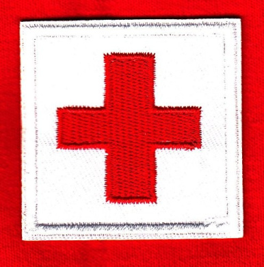 RED CROSS ON WHITE PATCH/Nurse, Profession, Medical, Medic,/Iron On Applique