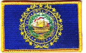 NEW HAMPSHIRE STATE FLAG/Iron On Embroidered Patch /Flag-New Hampshire,Symbol