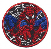 Spiderman Web Superhero Cartoon Patch Embroidered Iron on Hat Jacket Hoodie Backpack Ideal for Gift/ 6.8cm(w) X 6.8cm